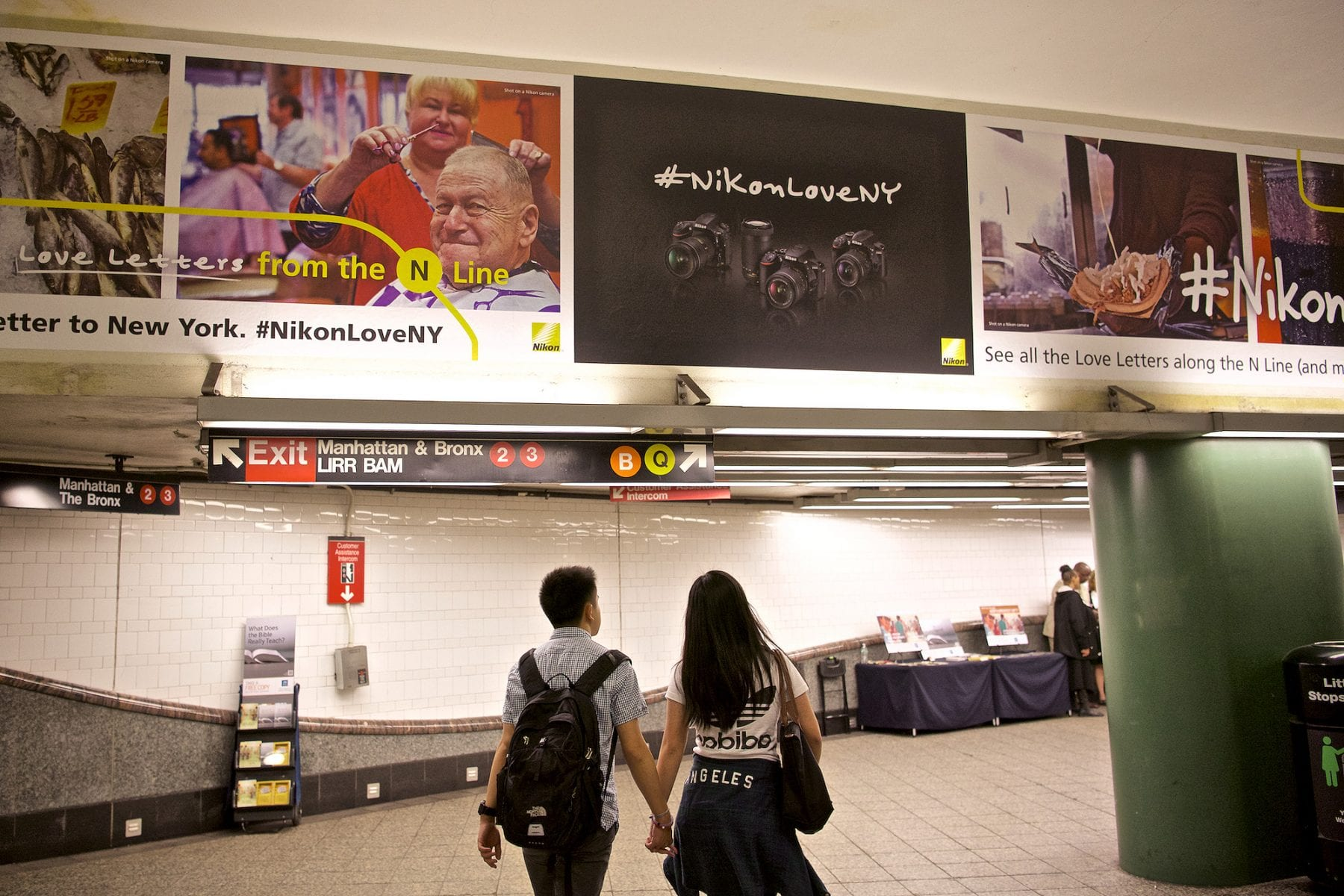 You can find the love at various stops along the N-line but you can't miss it at the Times Square and Atlantic (Brooklyn) stops. In an age where I'm so used to seeing my images on a screen I'm reminded of the power of the printed image.